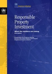 Responsible Property Investment - UNEP Finance Initiative