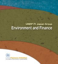 Environment and Finance - UNEP Finance Initiative