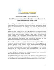 Press Release - UNEP Finance Initiative