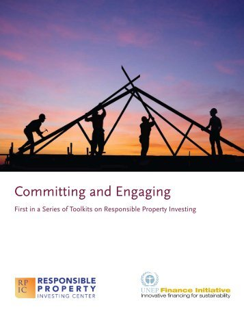 Committing and Engaging - UNEP Finance Initiative