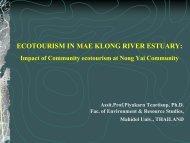ECOTOURISM IN MAE KLONG RIVER ESTUARY