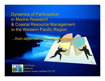 Dynamics of Participation in Marine Research & Coastal Resource ...