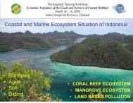 Status of Coastal and Marine Ecosystems in Indonesia