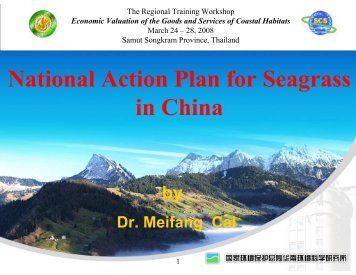 Case Study: National Action Plan for Seagrass in China