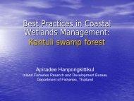 Best Practices in Coastal Wetlands Management: Kantuli swamp forest
