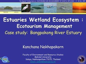 Bangpakong river estuary is