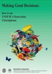 Making Good Decisions: how to use UNEP IE's OzonAction ...