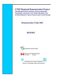 UNEP Regional Demonstration Project to identify and ... - DTIE
