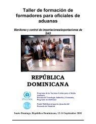 REPÚBLICA DOMINICANA - DTIE