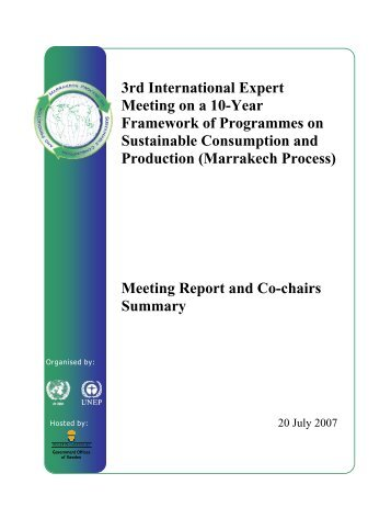 Stockholm Meeting Report Final 23 July 07 - Development