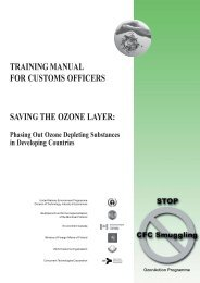 training manual for customs officers saving the ozone layer - DTIE