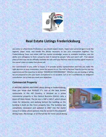 Real Estate Listings Fredericksburg
