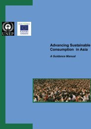 Advancing Sustainable Consumption in Asia - DTIE