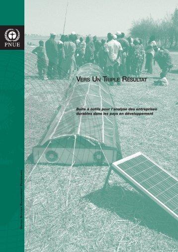 Vers un triple résultat - UNDP-UNEP Poverty-Environment Initiative