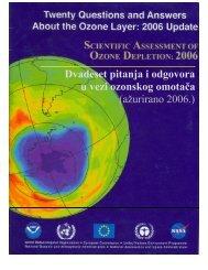 Dvadeset pitanja i odgovora u vezi ozonskog omotača (ažurirano ...