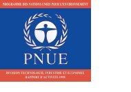 PROGRAMME DES NATIONS UNIES POUR L'ENVIRONNEMENT