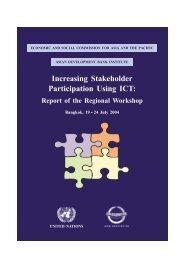 Report of the Regional Workshop - Escap