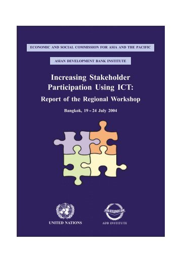 Report of the Regional Workshop - Escap
