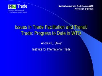 Issues in Trade Facilitation and Transit Trade: Progress to ... - Escap