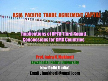 ASIA PACIFIC TRADE AGREEMENT (APTA) - Escap