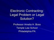 Legal Issue of Electronic Contracting - Escap