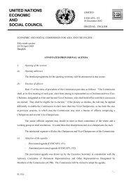 Annotated provisional agenda - escap