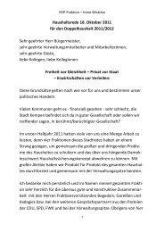 Haushaltsrede 18. Oktober 2011 für den ... - FDP Kempen