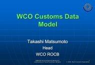 WCO Customs Data Model - Escap