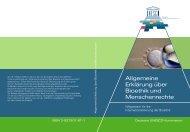Allgemeine Erklärung über Bioethik und Menschenrechte - Unesco