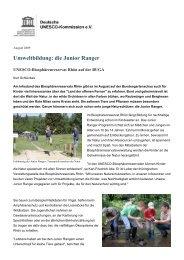 Umweltbildung: die Junior Ranger - UNESCO Deutschland