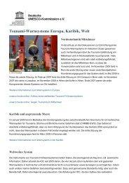 Tsunami-Warnsysteme Europa, Karibik, Welt - Unesco