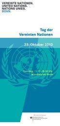 Flyer zum Tag der Vereinten Nationen 2010 - Unesco