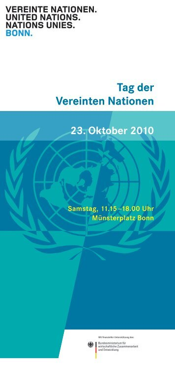 Flyer zum Tag der Vereinten Nationen 2010 - Unesco