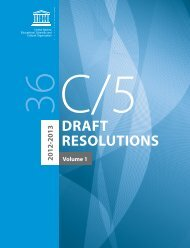UNESCO. General Conference; 36th; 36 C/5: volume 1: Draft ...