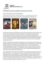 Weltkulturerbe im schulischen Kunstunterricht - Unesco