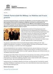 Globale Partnerschaft für Bildung von Mädchen und ... - Unesco