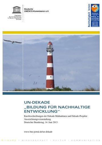 """UN-DEKADE """"BILDUNG FÜR NACHHALTIGE ... - Unesco"""
