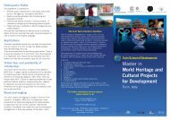 World Heritage and Cultural Projects for Development