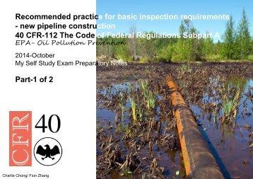 API 1169-Part 40 CFR 112 Part 1 of 2-Oil Pollution Prevention