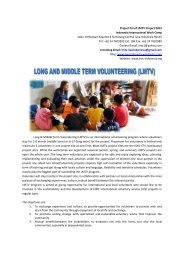Project list of LMTV Project 2013 Indonesia International Work Camp ...