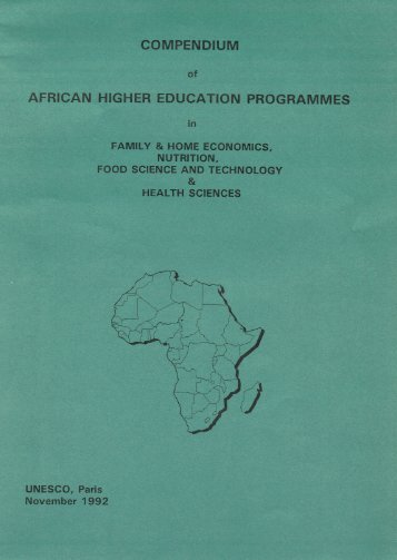 Compendium of African Higher Education Programmes - Unesco