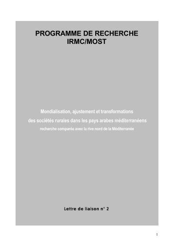 Mondialisation, ajustement et transformations des sociétés ... - Unesco