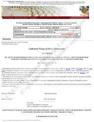 Lietuvos Respublikos Seimas - Dokumento tekstas - Unesco