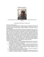 Mr Paolo Giorgio Ferri Curriculum vitae et honorum ... - Unesco