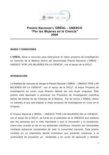 """Premio Nacional L'ORÉAL - UNESCO """"Por las Mujeres en la ..."""