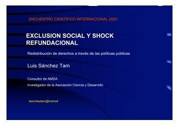 EXCLUSION SOCIAL Y SHOCK REFUNDACIONAL - Unesco