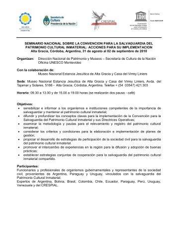 seminario subregional sobre prevencion y lucha contra el ... - Unesco