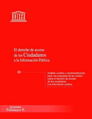 El Derecho de acceso de los ciudadanos a la información - Unesco