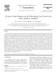 20 years of mass balances on the Piloto glacier, Las ... - Unesco