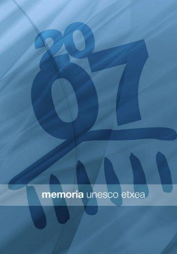 Memoria de actividades de UNESCO Etxea